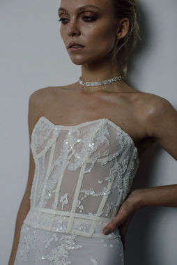 blank corset dress photo