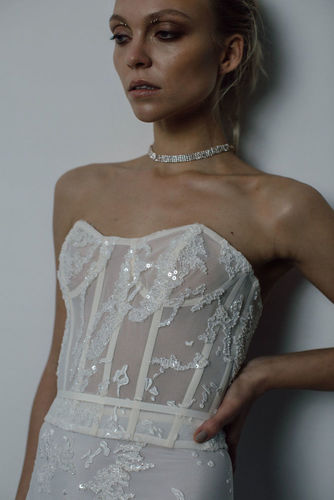blank corset dress photo
