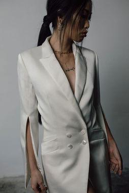 sleek blazer dress photo