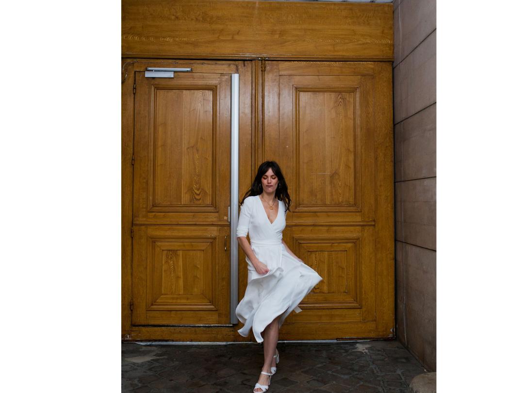 rosa / 7/8 sleeves dress photo