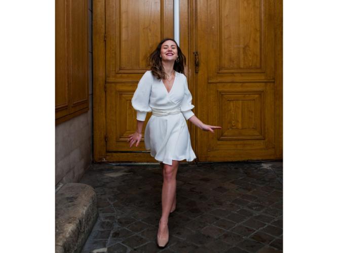 rosa /puff sleeves dress photo