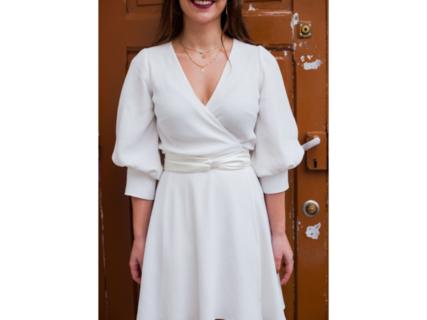 rosa /puff sleeves dress photo 2