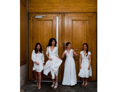 rosa /puff sleeves dress photo 4