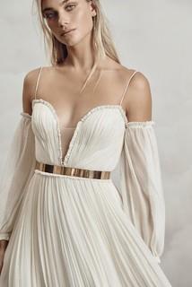 gold belt dress photo