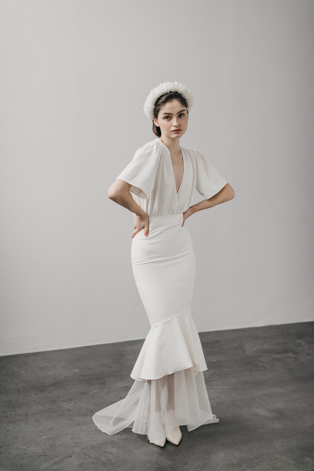 outfit sue short & long dress photo