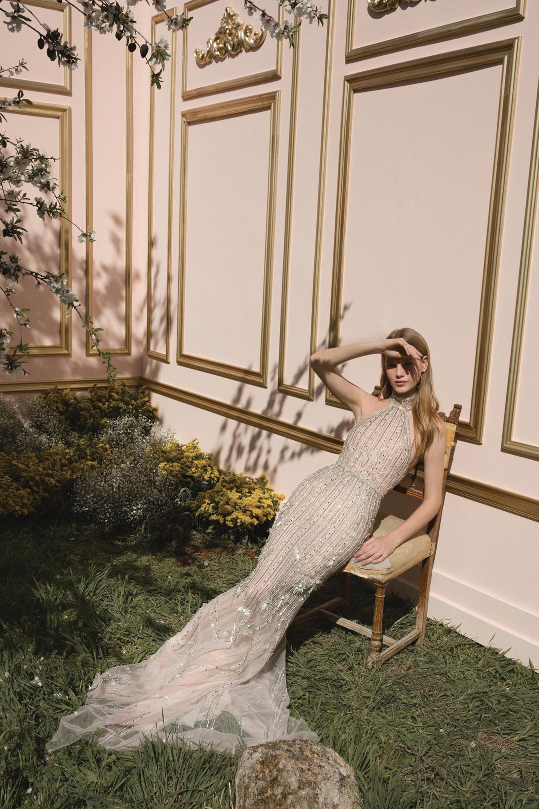 gold dress photo