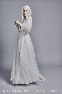 ava gold dash sleeves dress photo 3