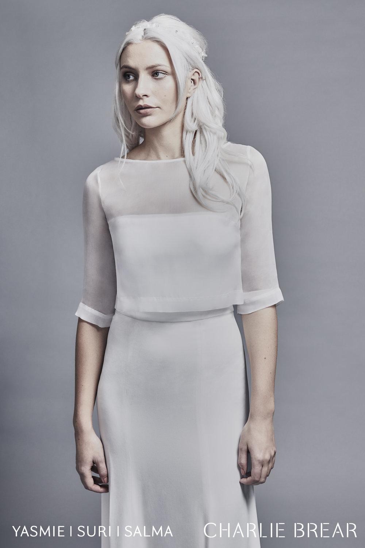 suri organza top dress photo