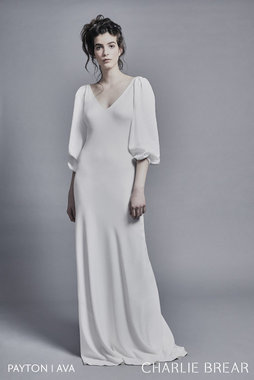 ava luxe crepe sleeves dress photo