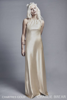 chartress gold dress photo
