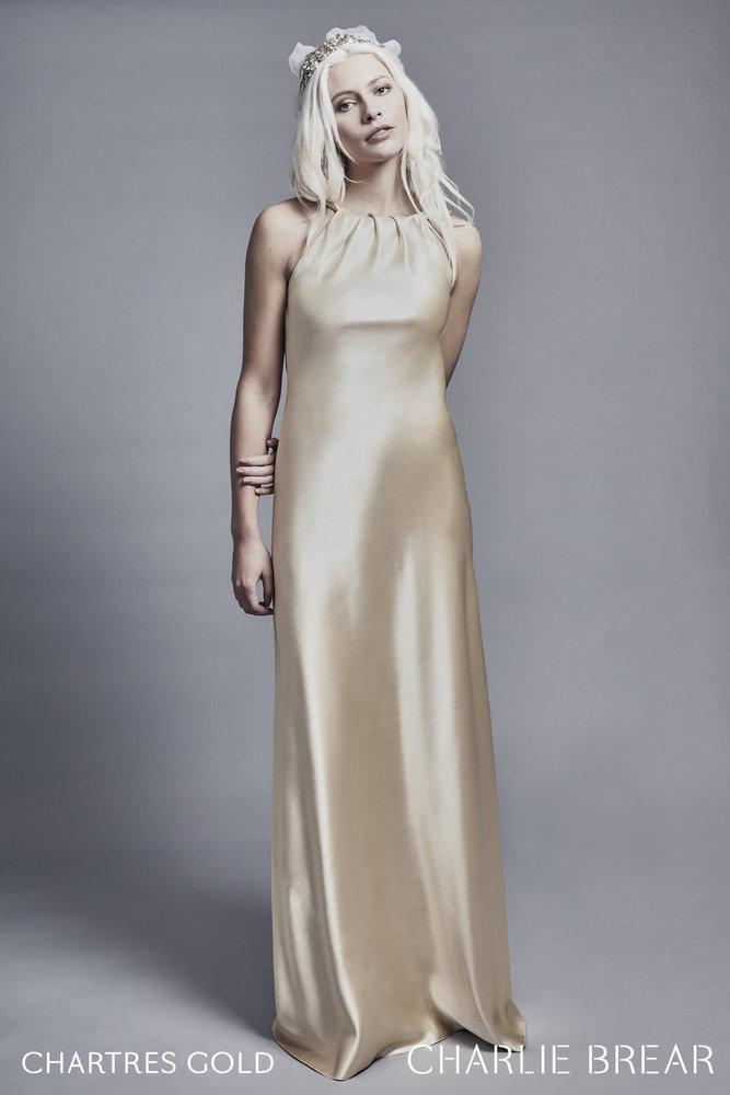 chartress gold dress photo