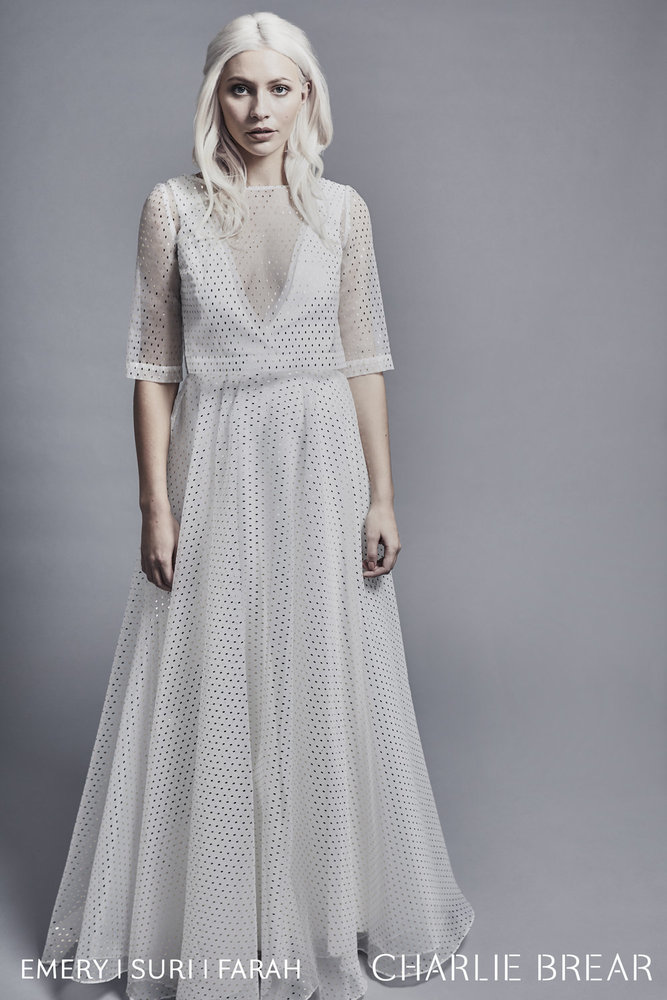 suri gold dash top & farah skirt dress photo