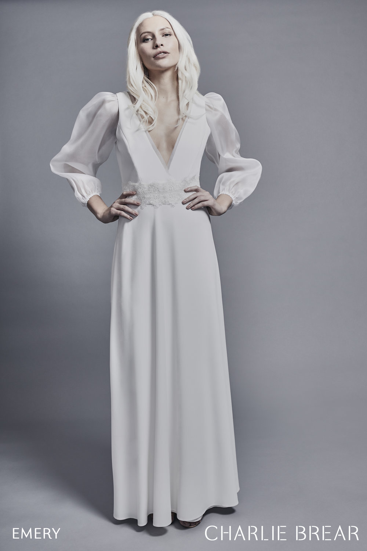 ava organza sleeves dress photo
