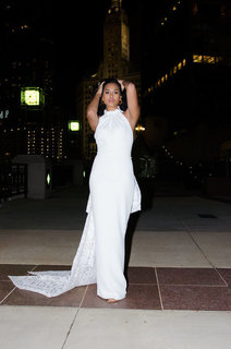 kimberly with bow dress photo 1