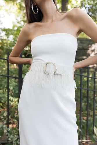 crepe strapless dress editor's picks photo