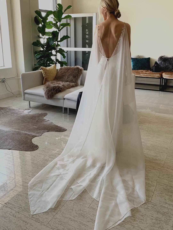 s.o cape dress photo