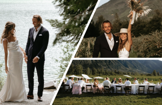 a chic summer canadian mountain wedding for jordan and reggie inspiration photo