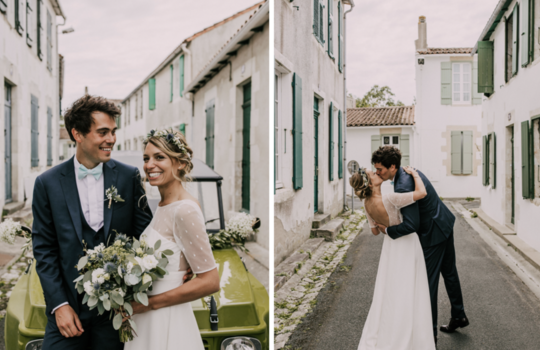 zoe and francois- xavier's wedding on the day of holy love  inspiration photo