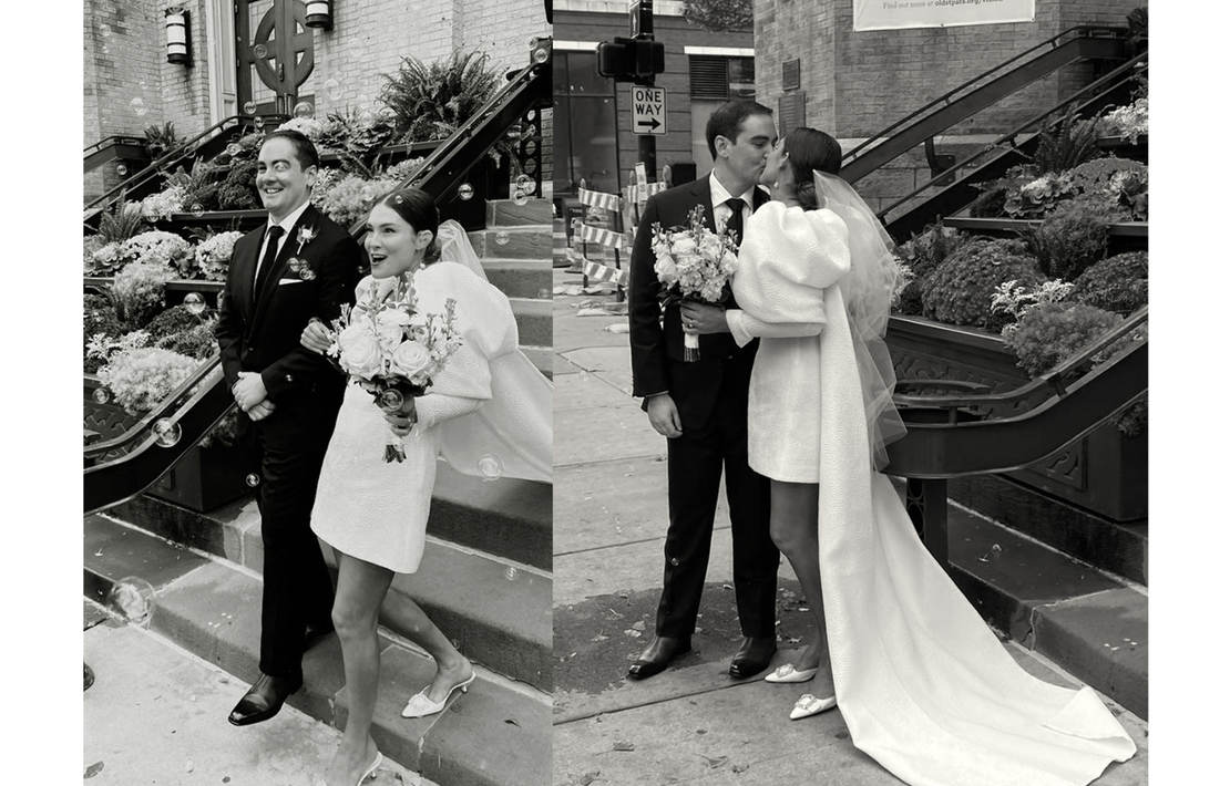 inside catherine and tommy's chicago wedding inspiration photo
