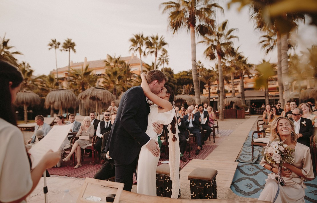 isabel and alistair's marbella beach wedding  inspiration photo