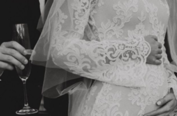 finding the perfect wedding dress when you're expecting inspiration photo