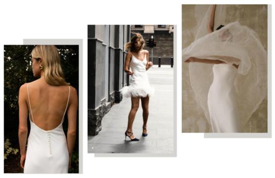 6 versatile slip wedding gowns for the minimalist bride inspiration photo