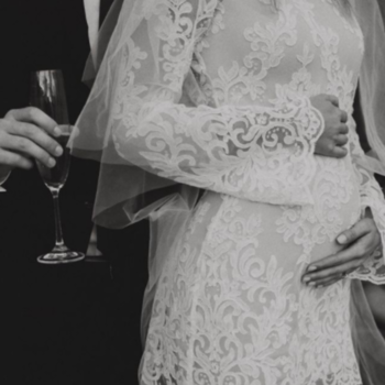 finding the perfect wedding dress when you're expecting inspiration photo 1