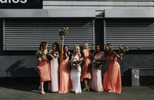 amber and sam's urban  wedding inspiration photo 7
