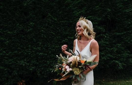 amber and sam's urban  wedding inspiration photo 5