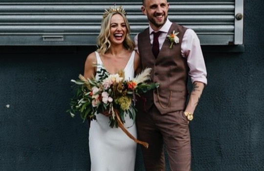 amber and sam's urban  wedding inspiration photo 4