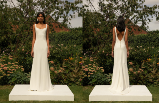 6 versatile slip wedding gowns for the minimalist bride inspiration photo 5