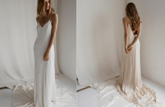 6 versatile slip wedding gowns for the minimalist bride inspiration photo 1