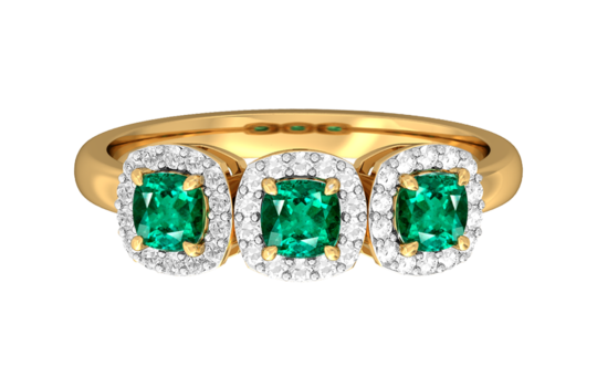 Main fenton   co. the garland  emerald  18kt yellow gold   1 450 www.fentonand.co