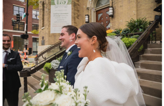 inside catherine and tommy's chicago wedding inspiration photo 4