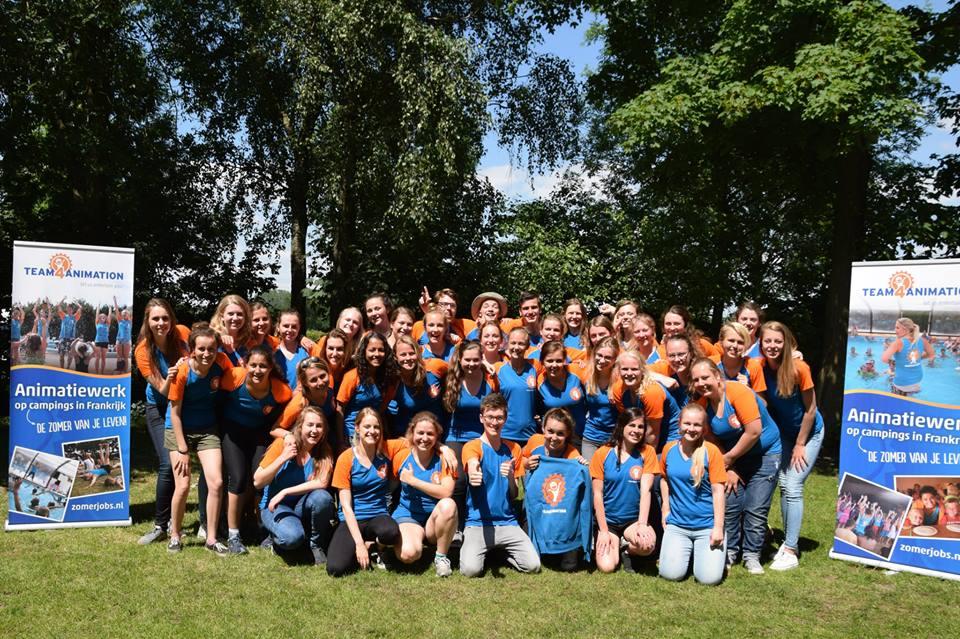 groepsfoto trainingsweekend zomerjobs