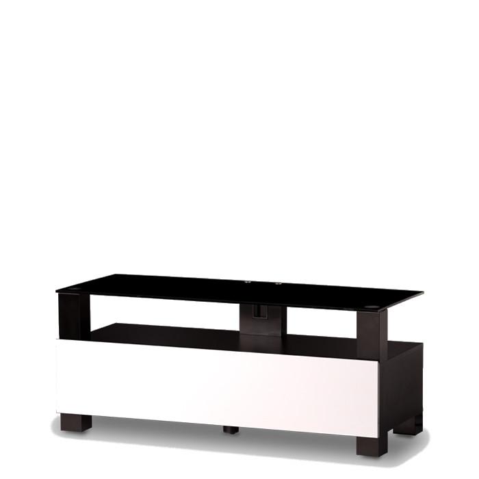 Sonorous TR 2110 B-BLK-WHT – černé sklo / kov černý mat / skříňky bílá Biela