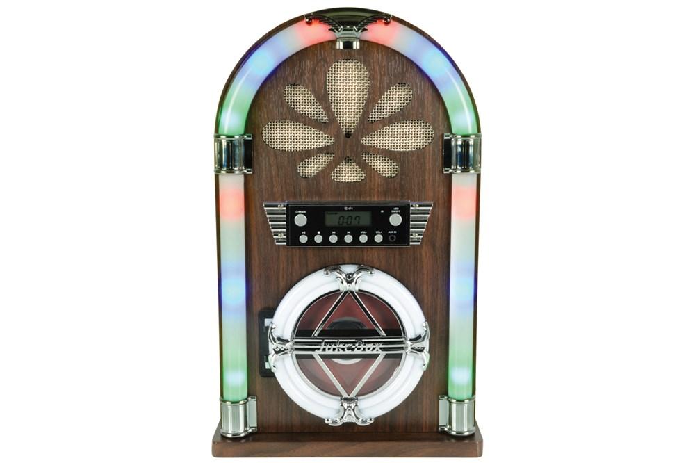 QTX Mini JukeBox BT/CD player/radio, dálkové ovládání
