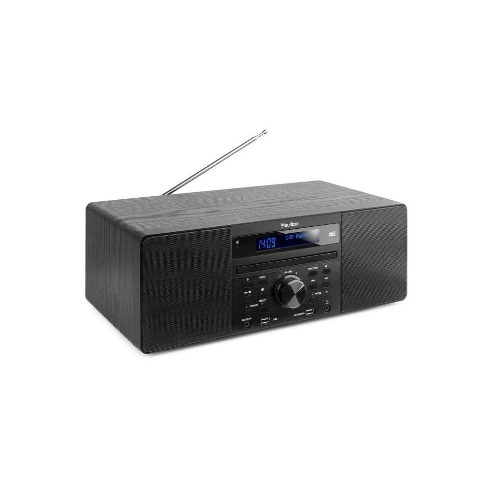Audizio Prato all-in-one hudební systém s CD/DAB+ Černá