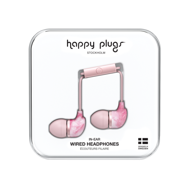 Happy Plugs In-Ear PINK MARBLE