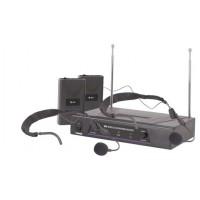 QTX VHF-HS2, bezdrátový mikrofon 2 kanálový 174,1 + 175,0 MHz