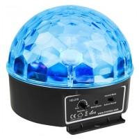 BeamZ mini Half Ball 6x 3W RGBAW LED, světelný efekt