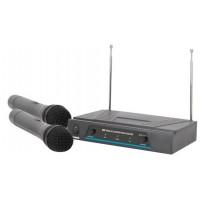 QTX VHF-2, bezdrátový mikrofon, 2 kanálový, 173,8 + 174,8 MHz