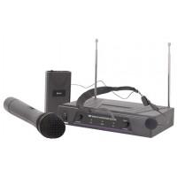 QTX VHF-N2, bezdrátový 2 kanálový VHF mikrofon s frekvencemi 173,8