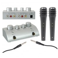 Skytec AV430 karaoke set se 2 mikrofony