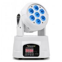BeamZ LED otočná hlavice, 7x10W RGBW LED mini, DMX, bílá