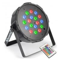 BeamZ LED SLIM FlatPAR 18x 1W RGB, IR, DMX