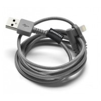 Urbanears The Thunderous Charge/Sync Cable Lightning Dark Grey