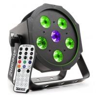 BeamZ LED FlatPAR 5x 6W TCL + 6W UV LED, RGB, DMX