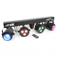 MAX Party Bar 2x LED PAR 3x3W QCL