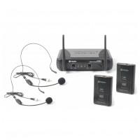 Skytec VHF mikrofonní set 2 kanálový, 2x head set